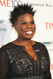 Leslie Jones attended the 2017 Time 100 Gala rocking a cool spiked hairstyle.
