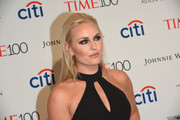 Lindsey Vonn wore an edgy straight 'do with a teased top at the 2017 Time 100 Gala.