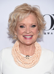 Christine Ebersole looked edgy-glam with her layered razor cut at the 2017 Tony Awards meet-the-nominees press junket.