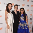 Angelina Jolie (in Givenchy), Nora Twomey and Saara Chaudry