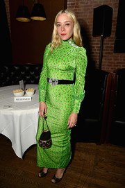 Chloe Sevigny was hard to miss in her acid-green Alessandra Rich print dress at the 2017 Tribeca Film Festival after-party.