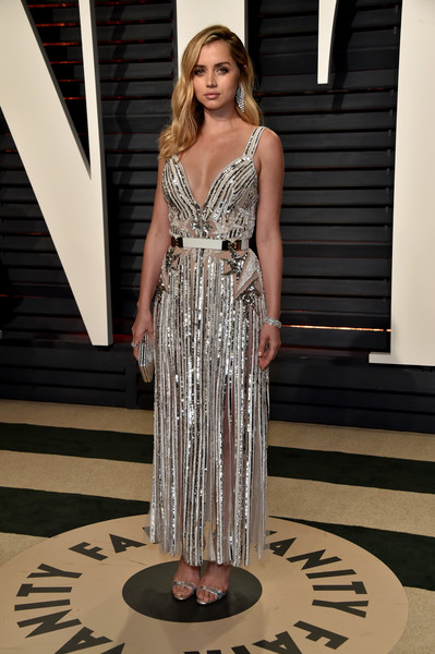More Pics of Ana de Armas Diamond Bracelet (4 of 4) - Ana de Armas Lookbook - StyleBistro [oscar party,vanity fair,fashion model,dress,fashion,shoulder,flooring,fashion show,gown,cocktail dress,catwalk,haute couture,beverly hills,california,wallis annenberg center for the performing arts,ana de armas,graydon carter - arrivals,graydon carter]