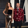 Deepika Padukone (in Monique Lhuillier) and Christian Louboutin