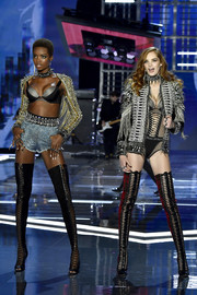 Maria Borges' Brian Atwood thigh-high lace-up boots did an excellent job of showing off her endless legs!