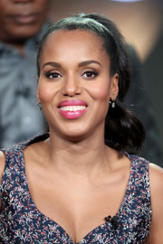 Kerry Washington looked charming wearing this wavy ponytail at the 2017 Winter TCA Tour.