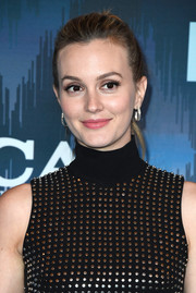 Leighton Meester attended the 2017 Winter TCA Tour Fox All-Star Party sporting a casual ponytail.