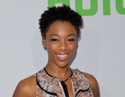 Samira Wiley stuck to her usual short curls when she attended the 2017 Hulu TCA Winter Press Tour.