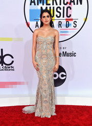 Laura Marano was sexy-glam in an embellished strapless gown by Galia Lahav at the 2018 American Music Awards.