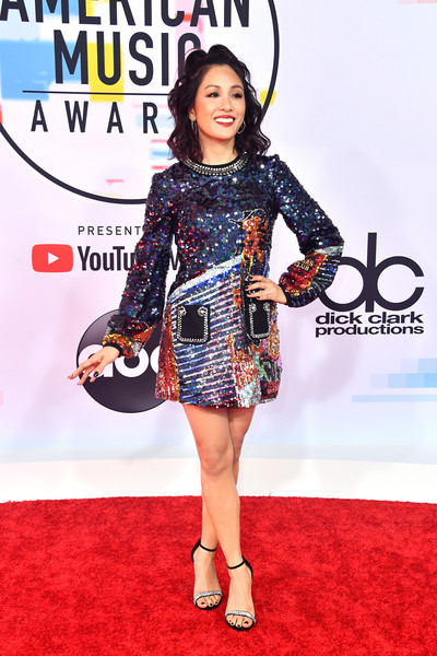 More Pics of Constance Wu Half Up Half Down (1 of 5) - Constance Wu Lookbook - StyleBistro [red carpet,clothing,carpet,fashion,premiere,dress,footwear,flooring,fashion model,leg,arrivals,constance wu,american music awards,microsoft theater,los angeles,california]