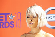 Serayah McNeill sported an edgy short 'do with eye-grazing bangs at the 2018 BET Awards.