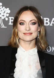 Olivia Wilde played up her eyes with smoky makeup.