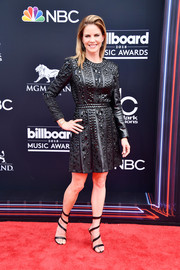 Natalie Morales went for an edgy look with this beaded LBD at the 2018 Billboard Music Awards.