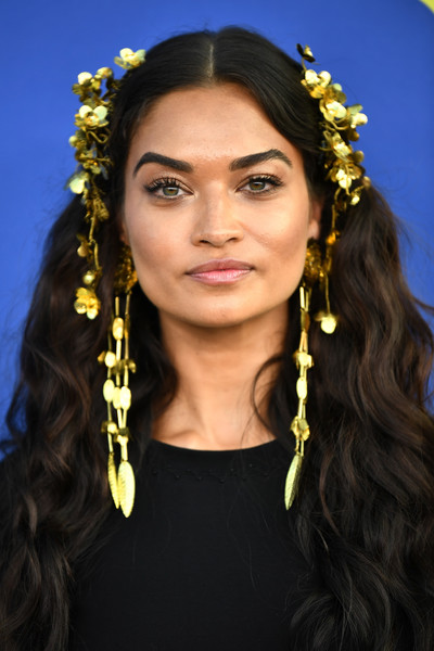 Shanina Shaik looked like a goddess with her luxuriant curls, complete with gold flower accessories, at the 2018 CFDA Fashion Awards.