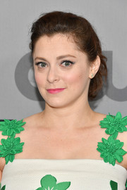 Rachel Bloom kept it girly with this ponytail at the 2018 CW Network Upfront.
