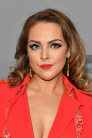 Elizabeth Gillies looked sweet with her curly 'do at the 2018 CW Network Upfront.