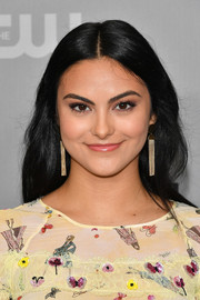 Camila Mendes opted for a loose center-parted hairstyle when she attended the 2018 CW Network Upfront.