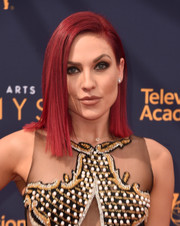 Sharna Burgess rocked a sleek asymmetrical cut at the 2018 Creative Arts Emmy Awards.