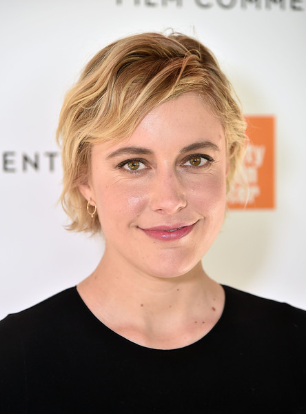 Greta Gerwig sported a cute wavy bob at the Film Society of Lincoln Center luncheon.