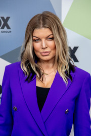 Fergie sported an edgy wavy 'do at the 2018 Fox Network Upfront.