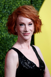Kathy Griffin rocked a mussed-up bob at the 2018 GQ Men of the Year party.