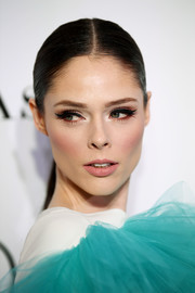Coco Rocha worked a super-sleek ponytail at the 2018 Glamour Women of the Year Awards.