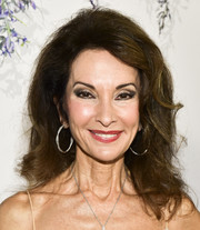 Susan Lucci attended the 2018 Hallmark Channel Summer TCA event sporting her signature teased hairstyle.