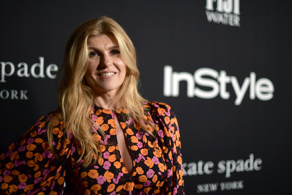 More Pics of Connie Britton Print Dress (1 of 3) - Connie Britton Lookbook - StyleBistro [red carpet,hair,beauty,fashion,premiere,blond,event,long hair,font,smile,fashion design,connie britton,instyle awards,the getty center,los angeles,california]