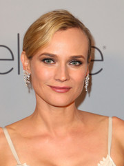 Diane Kruger went for total glamour with a pair of diamond chandelier earrings by Graziela Gems at the Warner Bros. and InStyle Golden Globes after-party.