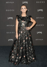 Billie Lourd kept it ladylike in a flowing floral dress by Gucci at the 2018 LACMA Art + Film Gala.