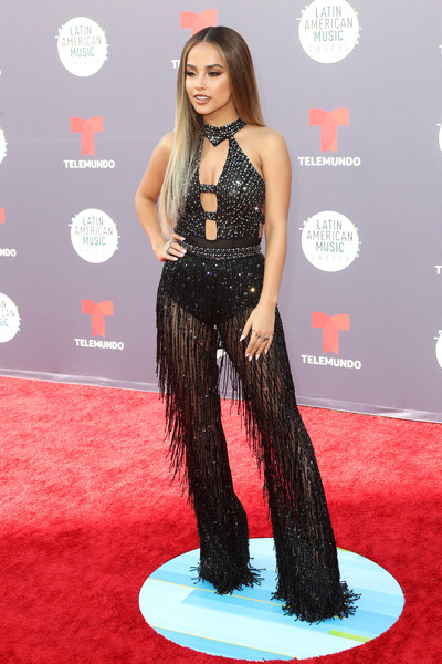 More Pics of Becky G Jumpsuit (1 of 4) - Becky G Lookbook - StyleBistro [red carpet,carpet,hair,clothing,long hair,hairstyle,flooring,fashion,dress,premiere,arrivals,becky g,latin american music awards,dolby theatre,hollywood,california]
