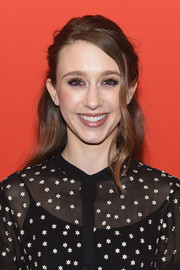 Taissa Farmiga wore her hair in a boho-chic half-up style at the Sundance premiere of 'What They Had to Do.'