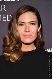 Mandy Moore paired her gorgeous 'do with classic silver hoops.