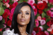 Kerry Washington kept it minimal with this straight shoulder-length 'do at the 2018 Tony Awards.