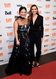 Kelly Marie Tran looked enchanting in a paillette-adorned gown by Reem Acra at the TIFF premiere of 'Sorry for Your Loss.'