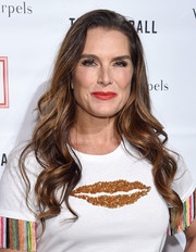 Brooke Shields looked gorgeous with her flowing waves at the 2018 TriBeCa Ball.