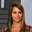 Halle Berry's Side-Tucked Bangs