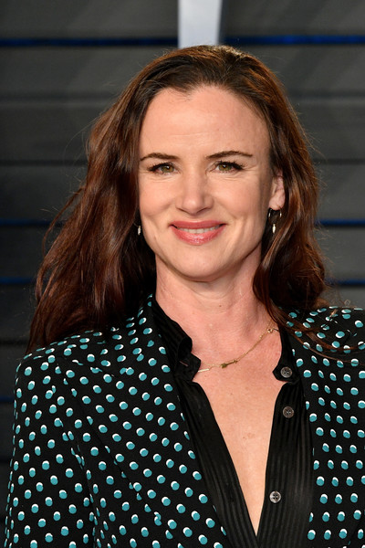 More Pics of Juliette Lewis Pantsuit (1 of 4) - Suits Lookbook - StyleBistro [oscar party,vanity fair,hair,hairstyle,polka dot,pattern,design,long hair,smile,brown hair,california,beverly hills,wallis annenberg center for the performing arts,radhika jones - arrivals,radhika jones,juliette lewis]