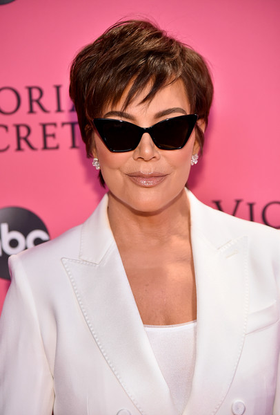 More Pics of Kris Jenner Messy Cut (1 of 8) - Kris Jenner Lookbook - StyleBistro [eyewear,hair,sunglasses,glasses,hairstyle,pink,cool,vision care,lip,forehead,pink carpet arrivals,kris jenner,new york,pier 94,victorias secret fashion show]