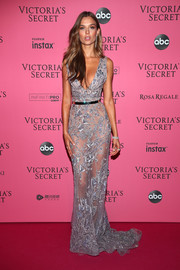 Josephine Skriver's sheer Zuhair Murad Couture gown at the 2018 VS show after-party looked just as sultry as her runway outfits!