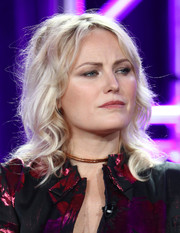 Malin Akerman attended the 2018 Winter TCA Tour wearing her hair in face-framing curls.