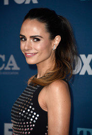 Jordana Brewster kept it youthful with this high-volume ponytail at the Fox All-Star Party.