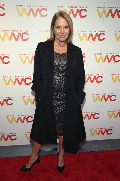More Pics of Katie Couric Bob (2 of 4) - Short Hairstyles Lookbook - StyleBistro [clothing,red carpet,carpet,red,premiere,event,flooring,suit,dress,outerwear,arrivals,katie couric,womens media awards,capitale,new york city]