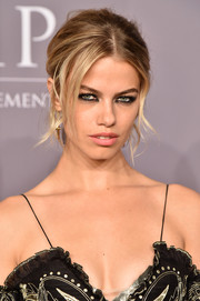 Hailey Clauson rocked a Brigitte Bardot-inspired updo at the 2018 amfAR Gala New York.