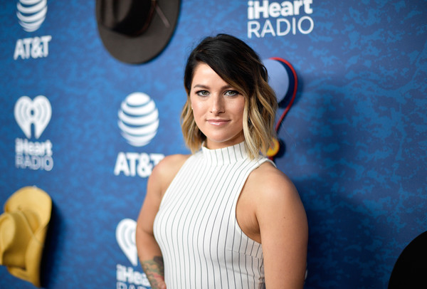 More Pics of Cassadee Pope Jumpsuit (1 of 6) - Cassadee Pope Lookbook - StyleBistro [shoulder,hairstyle,red carpet,carpet,electric blue,flooring,premiere,neck,black hair,dress,cassadee pope,commercial use,austin,texas,frank erwin center,at t,red carpet,iheartcountry festival]