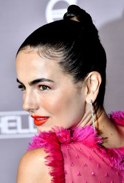 Camilla Belle wore her hair in an edgy top knot at the 2019 Baby2Baby Gala.