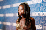 Lupita Nyong'o looked cool with her multi-braided hairstyle at the 2019 Breakthrough Prize.