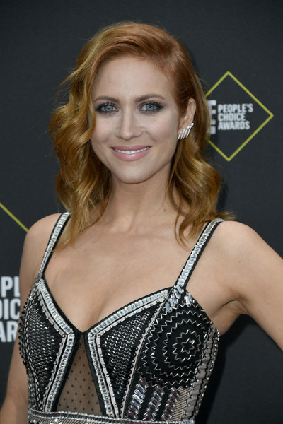 More Pics of Brittany Snow Beaded Dress (1 of 2) - Dresses & Skirts Lookbook - StyleBistro [hair,blond,hairstyle,beauty,brown hair,long hair,smile,premiere,chest,model,brittany snow,peoples choice awards,santa monica,california,barker hangar,e]