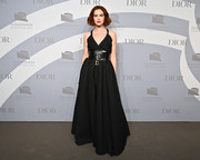 Zoey Deutch chose a black spaghetti-strap gown by Dior for the 2019 Guggenheim International Gala.