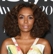 Janet Mock wore a big curly 'do at the 2019 InStyle Awards.