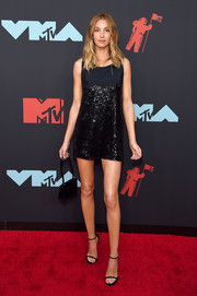 Whitney Port looked disco-ready in a sequined LBD by Balmain at the 2019 MTV VMAs.